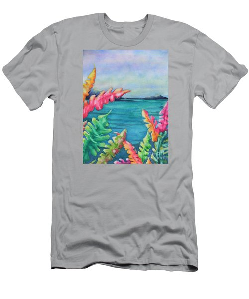 Tropical Scene Men's T-Shirt (Slim Fit) by Chrisann Ellis
