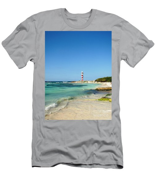 Tropical Seascape With Lighthouse Men's T-Shirt (Athletic Fit)