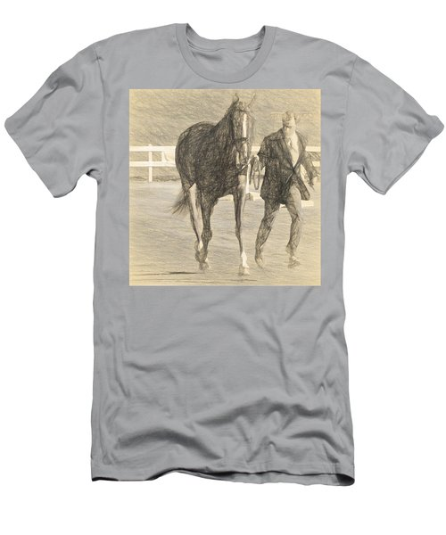 Trot Out Drawn Men's T-Shirt (Athletic Fit)