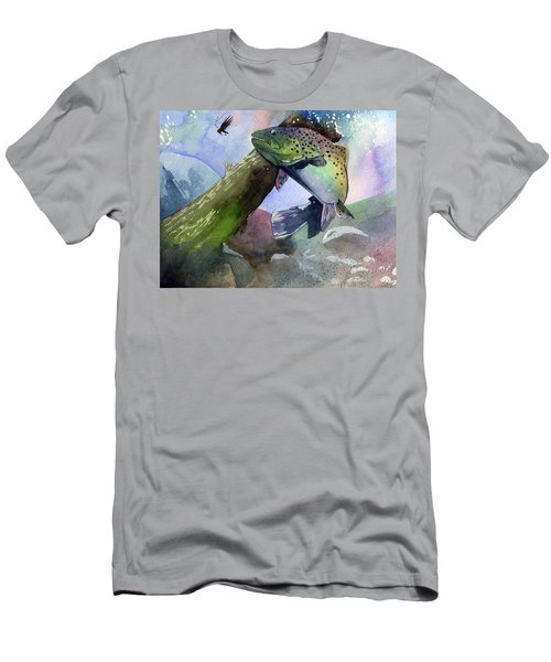 Trout And Fly Men's T-Shirt (Athletic Fit)