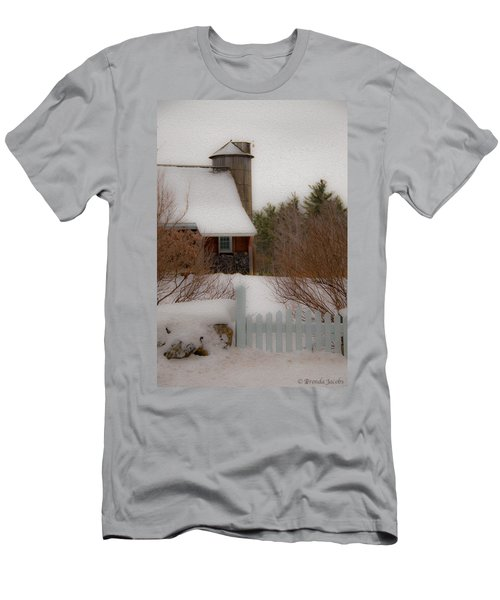 Tuftonboro Farm In Snow Men's T-Shirt (Athletic Fit)
