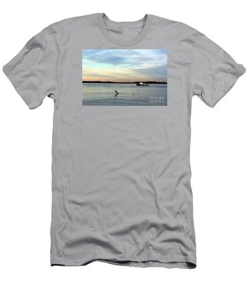 Tug Boat Men's T-Shirt (Slim Fit) by David Jackson