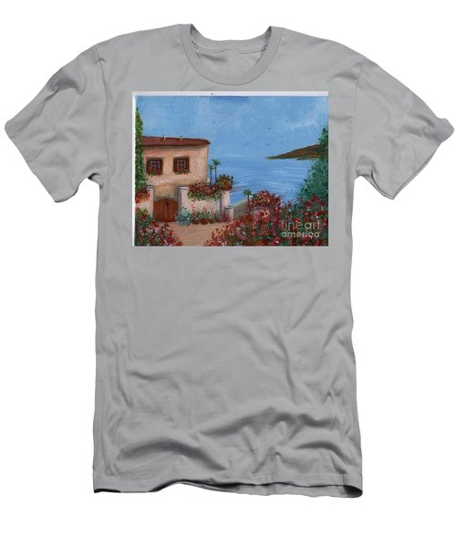 Tuscany View Men's T-Shirt (Slim Fit) by Becky Lupe