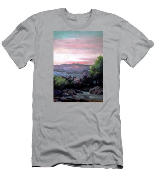 Men's T-Shirt (Slim Fit) featuring the painting Twilight by Mikhail Savchenko