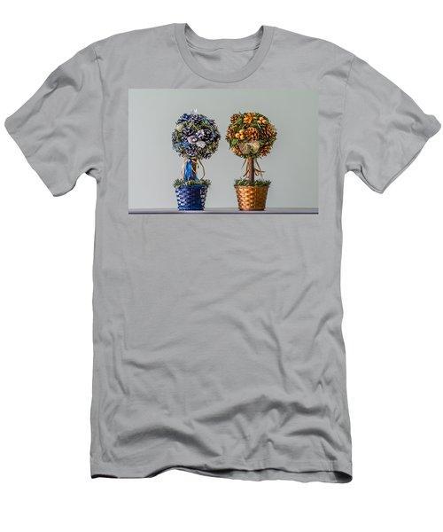 Twin Trees Men's T-Shirt (Slim Fit) by Tgchan