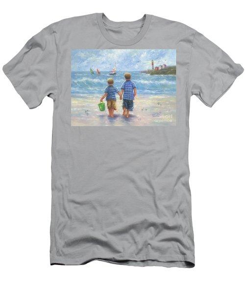 Two Beach Boys Walking Men's T-Shirt (Athletic Fit)