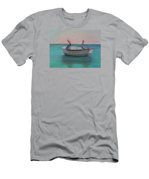 Two Friends In A Dinghy Men's T-Shirt (Athletic Fit)