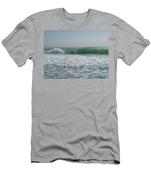Two Green Waves Men's T-Shirt (Slim Fit)