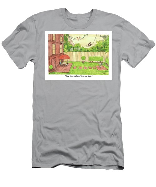 Two People Sitting On Their Back Patio Men's T-Shirt (Athletic Fit)