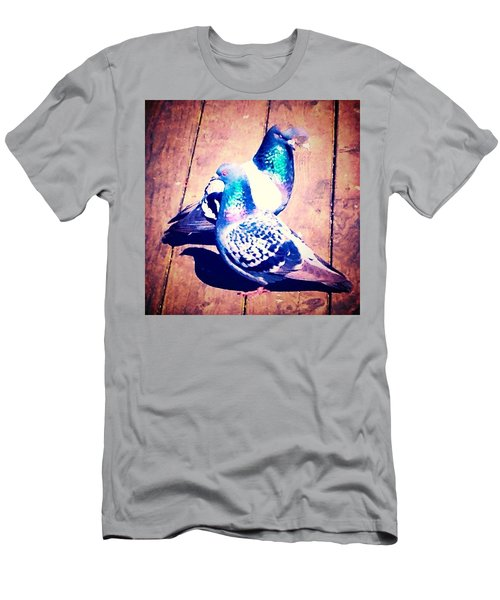 Two Pigeons And A Ghost Men's T-Shirt (Athletic Fit)