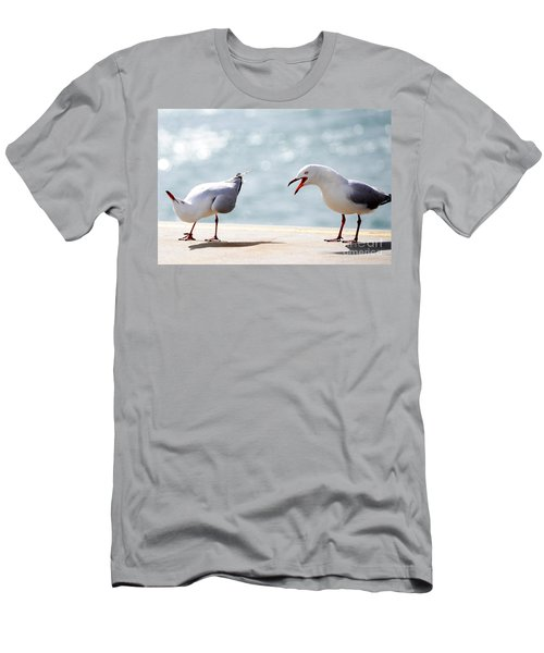 Two Seagulls Men's T-Shirt (Athletic Fit)