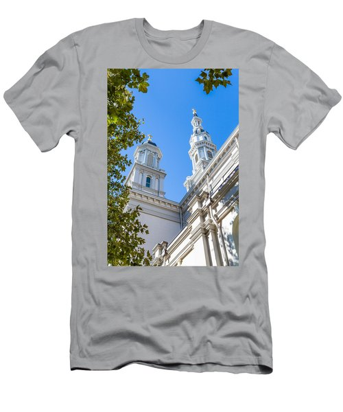 Men's T-Shirt (Athletic Fit) featuring the photograph Two Spires by Susan Leonard