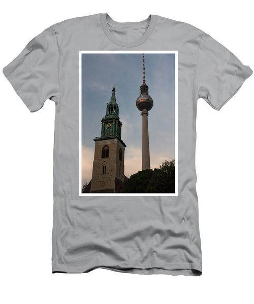 Two Towers In Berlin Men's T-Shirt (Athletic Fit)