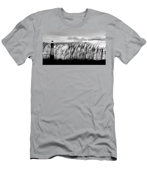 Tybee Lighthouse One Men's T-Shirt (Slim Fit) by Steve Archbold