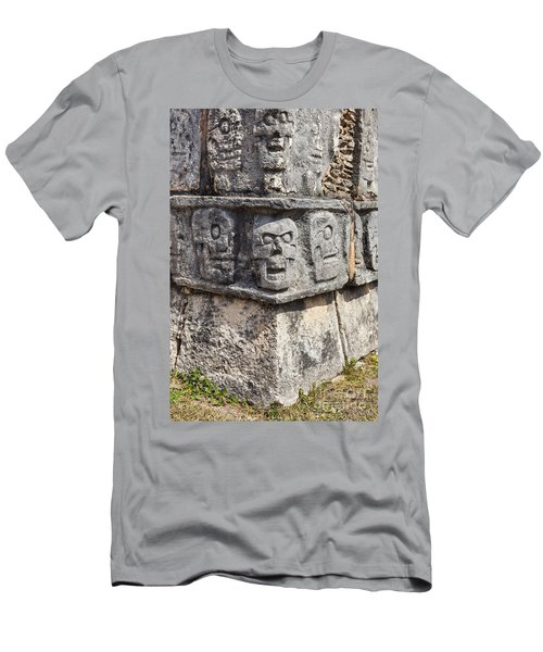 Tzompantli Or Platform Of The Skulls At Chichen Itza Men's T-Shirt (Athletic Fit)