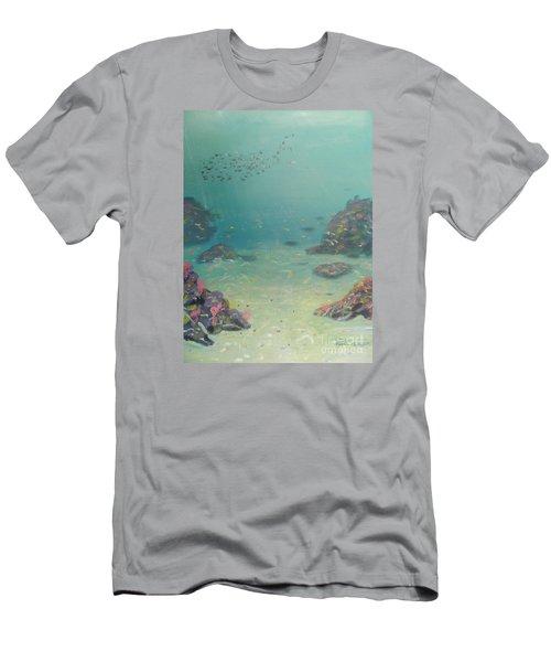 Under The Sea Men's T-Shirt (Slim Fit) by Pamela  Meredith