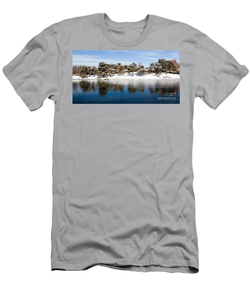Urban Pond In Snow Men's T-Shirt (Athletic Fit)