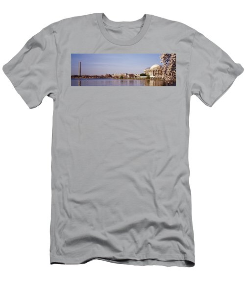 Usa, Washington Dc, Washington Monument Men's T-Shirt (Slim Fit) by Panoramic Images