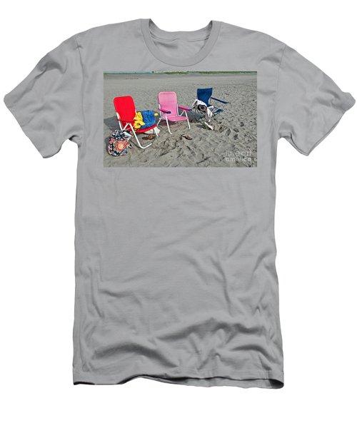 Vacation Time Beach Art Prints Men's T-Shirt (Slim Fit) by Valerie Garner