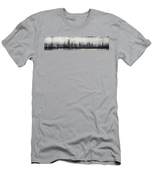 Vancouver Skyline Abstract 1 Men's T-Shirt (Athletic Fit)