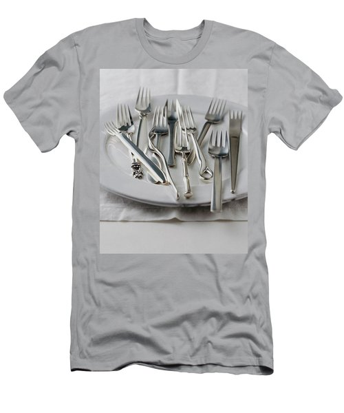 Various Forks On A Plate Men's T-Shirt (Athletic Fit)