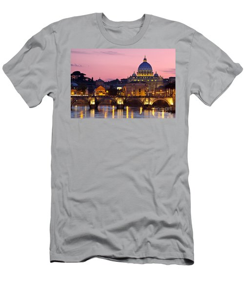 Men's T-Shirt (Athletic Fit) featuring the photograph Vatican Twilight by Brian Jannsen