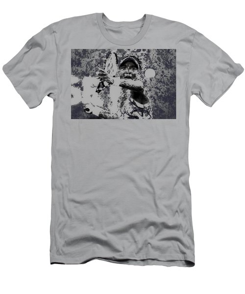 Venus Williams Paint Splatter 2e Men's T-Shirt (Slim Fit) by Brian Reaves