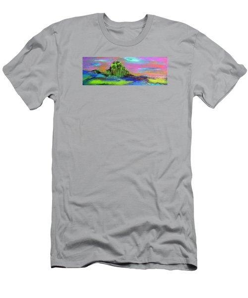 Verdant Tuft Men's T-Shirt (Slim Fit) by Elizabeth Fontaine-Barr