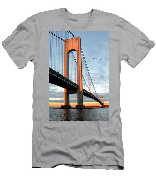 Verrazano Bridge At Sunrise - Verrazano Narrows Men's T-Shirt (Athletic Fit)