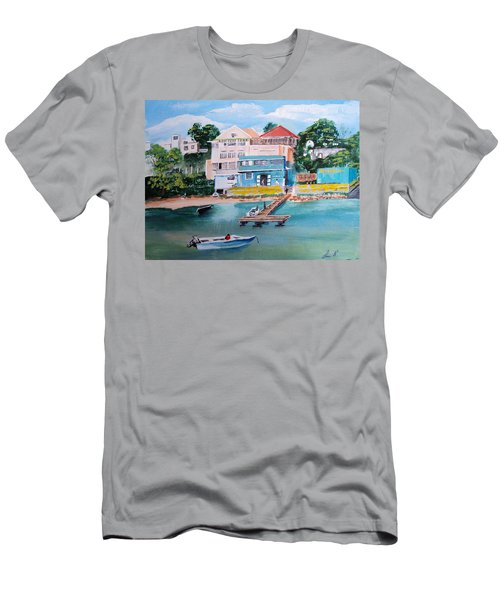 Vieques Puerto Rico Men's T-Shirt (Slim Fit) by Luis F Rodriguez