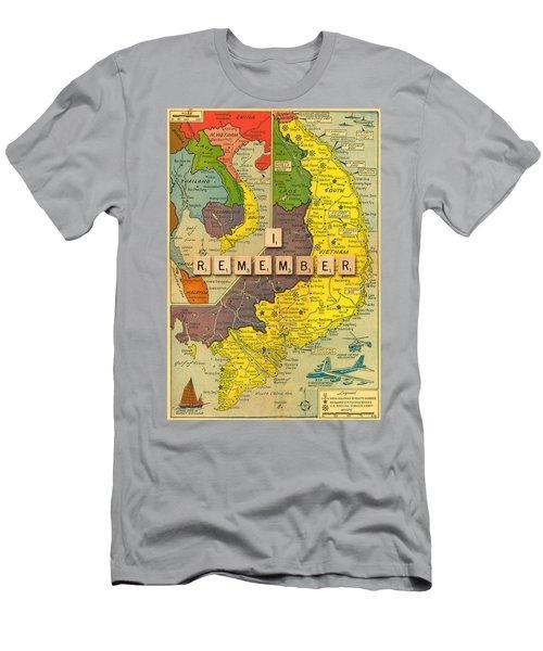 Vietnam War Map Men's T-Shirt (Athletic Fit)