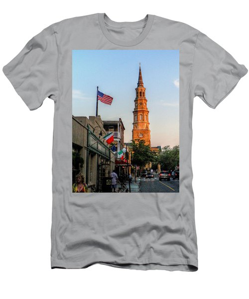 View Down Church Street Men's T-Shirt (Athletic Fit)