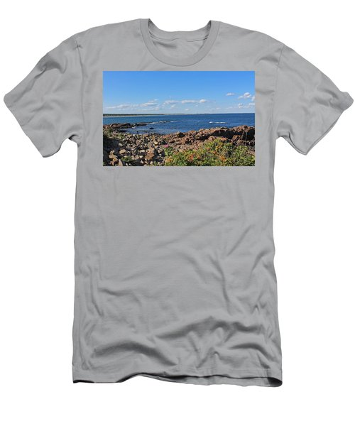 View From Marginal Way Ogunquit Maine 3 Men's T-Shirt (Athletic Fit)