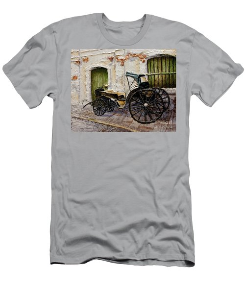 Men's T-Shirt (Slim Fit) featuring the painting Vigan Carriage 2 by Joey Agbayani