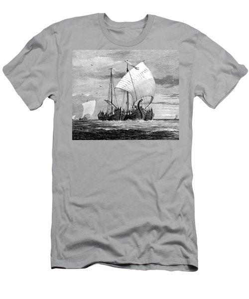 Vikings Cross The North Sea Men's T-Shirt (Athletic Fit)