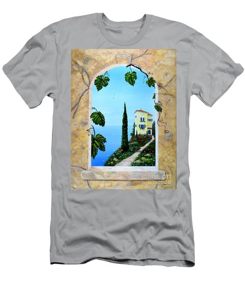 Villa By The Sea Men's T-Shirt (Athletic Fit)
