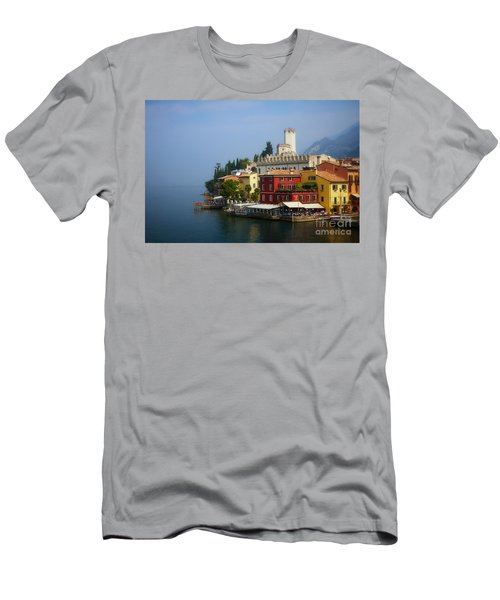 Village Near The Water With Alps In The Background  Men's T-Shirt (Athletic Fit)