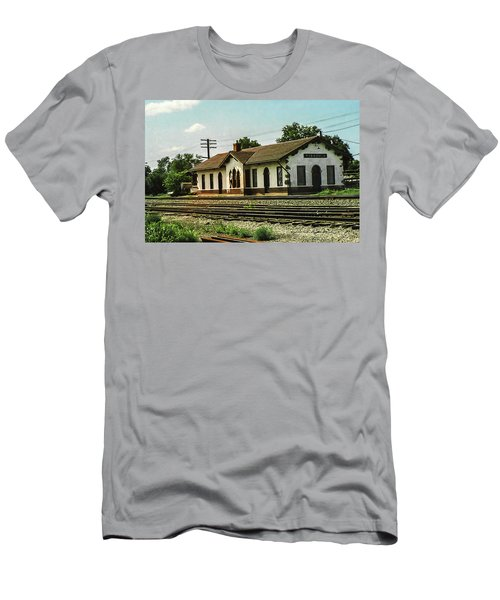 Villisca Train Depot Men's T-Shirt (Athletic Fit)