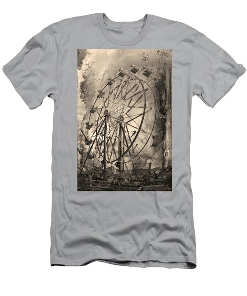 Vintage Ferris Wheel Men's T-Shirt (Athletic Fit)