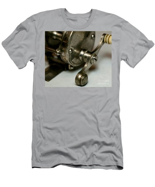 Men's T-Shirt (Slim Fit) featuring the photograph Vintage Fishing Reel  by Wilma  Birdwell