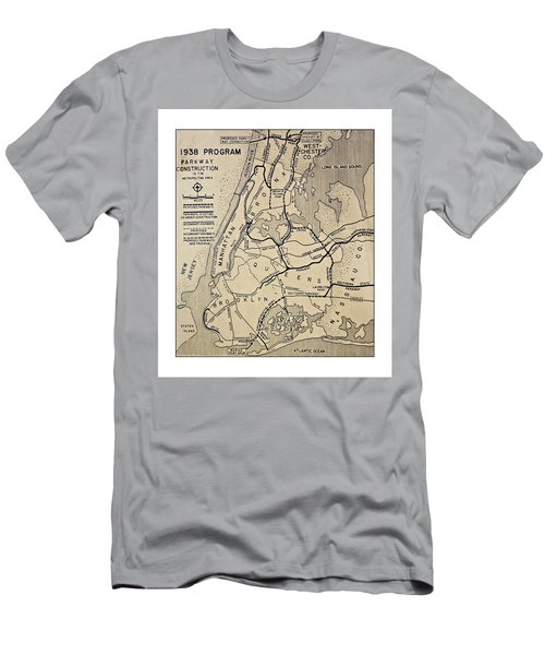 Vintage Newspaper Map Men's T-Shirt (Athletic Fit)