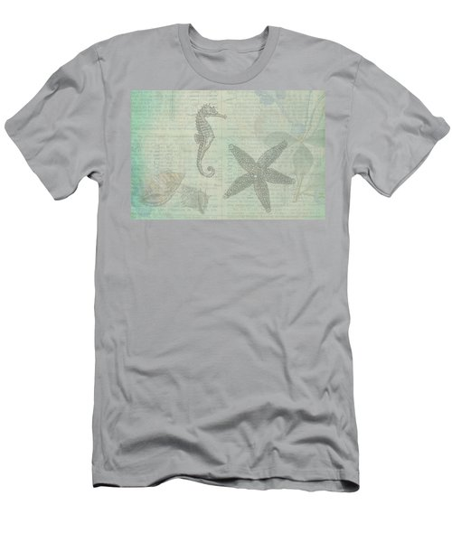 Men's T-Shirt (Slim Fit) featuring the drawing Vintage Under The Sea by Peggy Collins