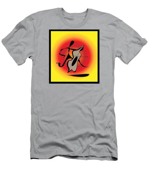 Men's T-Shirt (Slim Fit) featuring the digital art Viola by Iris Gelbart