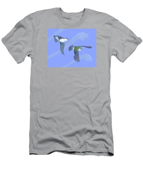 Violet-green Swallows Men's T-Shirt (Athletic Fit)