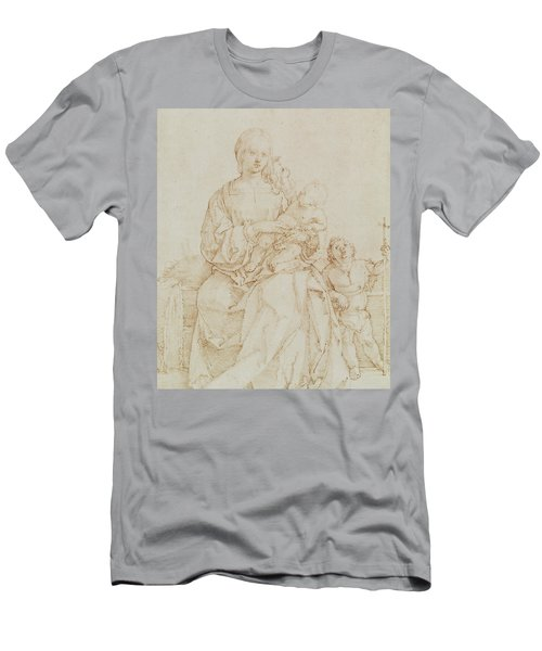 Virgin And Child With Infant St John Men's T-Shirt (Athletic Fit)