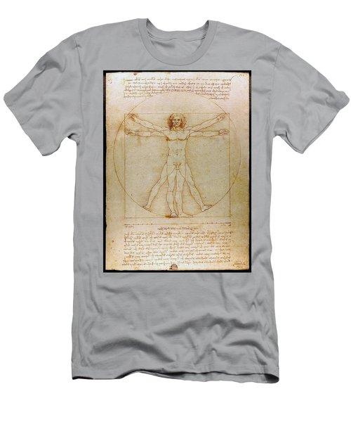 Vitruvian Man By Leonardo Da Vinci  Men's T-Shirt (Slim Fit) by Karon Melillo DeVega