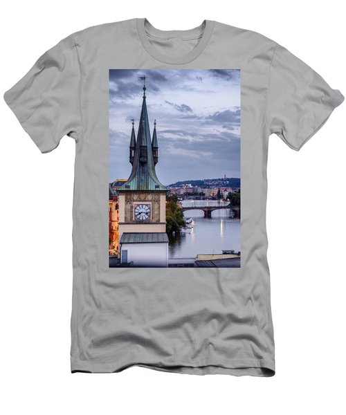 Vltava River In Prague Men's T-Shirt (Athletic Fit)