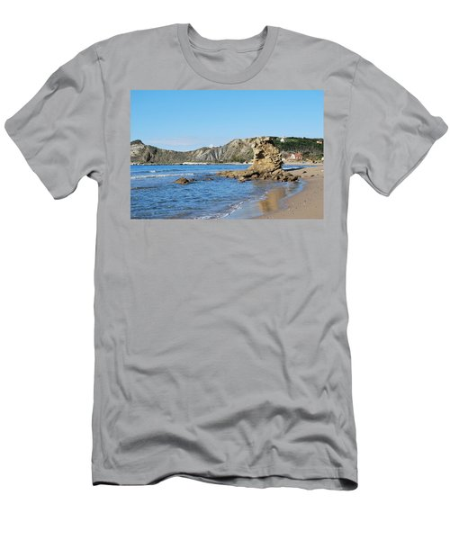 Men's T-Shirt (Slim Fit) featuring the photograph Vouno 2 by George Katechis