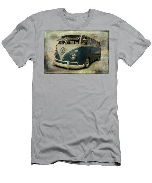 Vw Bus On Display Men's T-Shirt (Slim Fit) by Athena Mckinzie