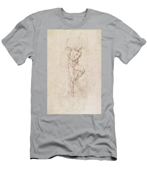 W53r The Risen Christ Study For The Fresco Of The Last Judgement In The Sistine Chapel Vatican Men's T-Shirt (Athletic Fit)